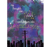 My Thoughts are Stars - from TFIOS Photographic Print