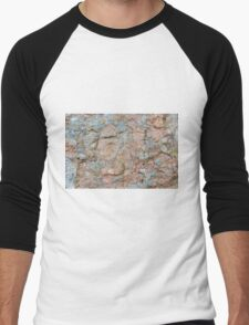 Orkney sandstone and lichen Men's Baseball ¾ T-Shirt