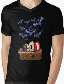 The Binding of Red Mens V-Neck T-Shirt