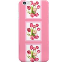 9 bunches of Pink Tulip Flowers by Kristie Hubler iPhone Case/Skin