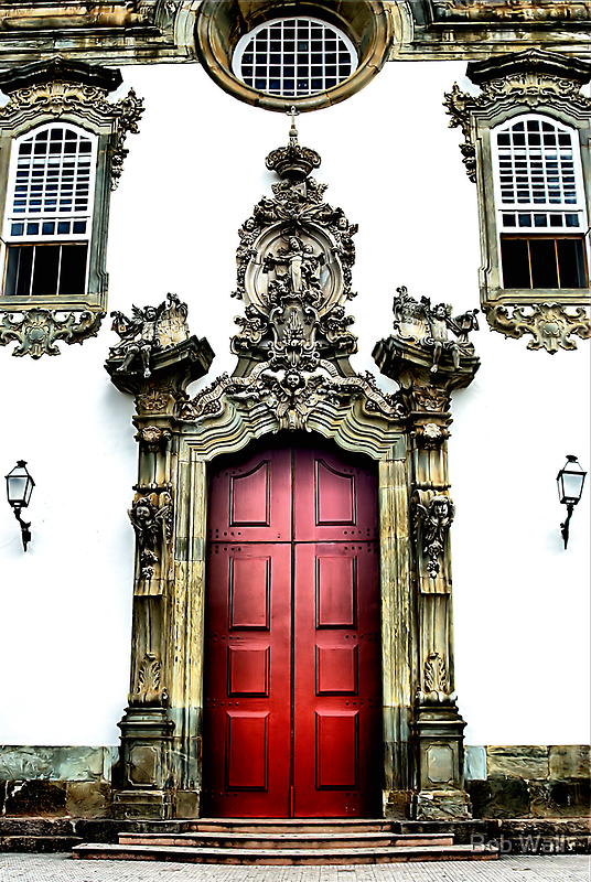 Church With the Red Doors by Bob Wall