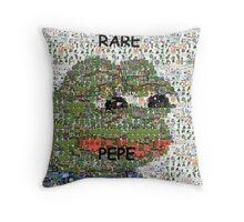 Rare Pepe - Frog Meme Compilation Throw Pillow