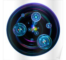 Abstract Space Bubbles Poster