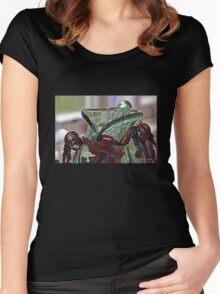 Light through an Ornate  Green Glass Pitcher Women's Fitted Scoop T-Shirt