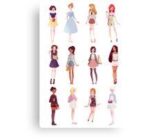 Casual Princesses Canvas Print