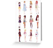 Casual Princesses Greeting Card