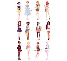Casual Princesses Photographic Print