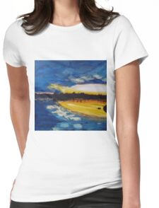 Sunset over the water Womens Fitted T-Shirt