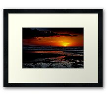 """Sunrise Surfer"" Framed Print"