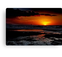 """Sunrise Surfer"" Canvas Print"