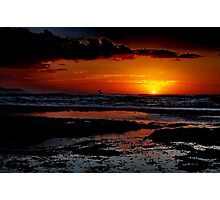 """Sunrise Surfer"" Photographic Print"