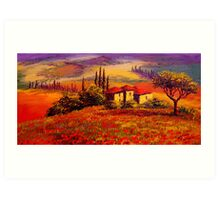 Tuscany Villa With a View Art Print