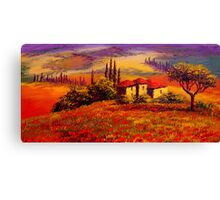 Tuscany Villa With a View Canvas Print