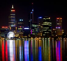 Perth by night by Nigel Donald