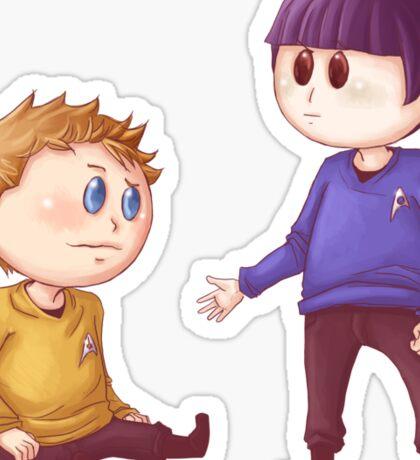 Kirk & Spock Sticker
