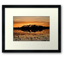 Williamtown Sun Rise - New South Wales - Australia Framed Print