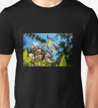 Pink Flowers in the Light Unisex T-Shirt