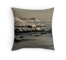 White Cliffs Throw Pillow