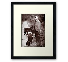 A Man and his Goat, Kyiv, Ukraine Framed Print