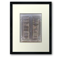 Patina shutters Framed Print