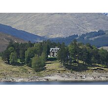 Kyle of Lochalsh, solitary house on the loch Photographic Print