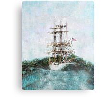 Coast Guard Cutter Eagle vintage grunge style  Metal Print