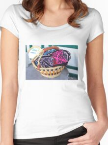 Basket of Knitted Things Women's Fitted Scoop T-Shirt