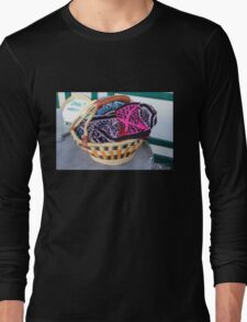 Basket of Knitted Things Long Sleeve T-Shirt