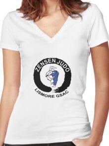 Lismore Zensen Judo Club Women's Fitted V-Neck T-Shirt