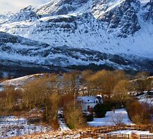 Blaven and Torrin in Winter, Isle of Skye,Scotland. by photosecosse /barbara jones