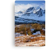 Blaven and Torrin in Winter, Isle of Skye,Scotland. Canvas Print