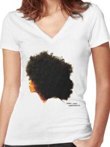 WORLDWIDE UNDERGROUND Women's Fitted V-Neck T-Shirt