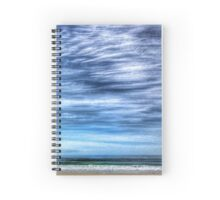 Sky waves sand seascape Spiral Notebook