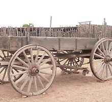 Old Dray Wagon. by Mywildscapepics