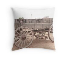 Old Dray Wagon. Throw Pillow