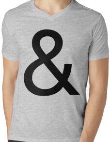 Ampersand (Helvetica Neue) Mens V-Neck T-Shirt