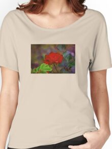 Never Alone Rose Faux Painting Women's Relaxed Fit T-Shirt