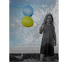 Princess with Balloons Photographic Print