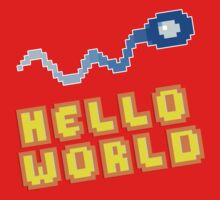 8Bit Nerd Hello Pixel World by fuxi