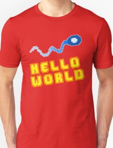 8Bit Nerd Hello Pixel World T-Shirt