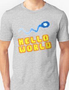 8Bit Nerd Hello Pixel World T-Shirt
