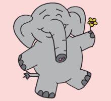 Flower Elephant One Piece - Short Sleeve