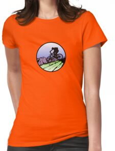 biking Womens Fitted T-Shirt