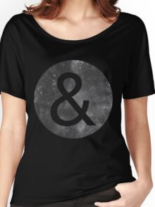 Helvetica Neue Ampersand Women's Relaxed Fit T-Shirt