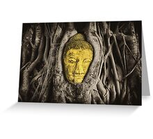Buddha in Roots Greeting Card