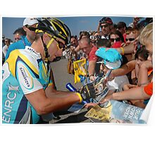 Lance Armstrong,at the tour down under Poster