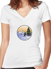 fly fishing Women's Fitted V-Neck T-Shirt