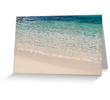 Sea view from Sardinia, Italy. Greeting Card