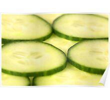 Closeup Shot of Cucumber Slices Poster