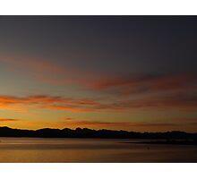 Sunset Silhouete Photographic Print